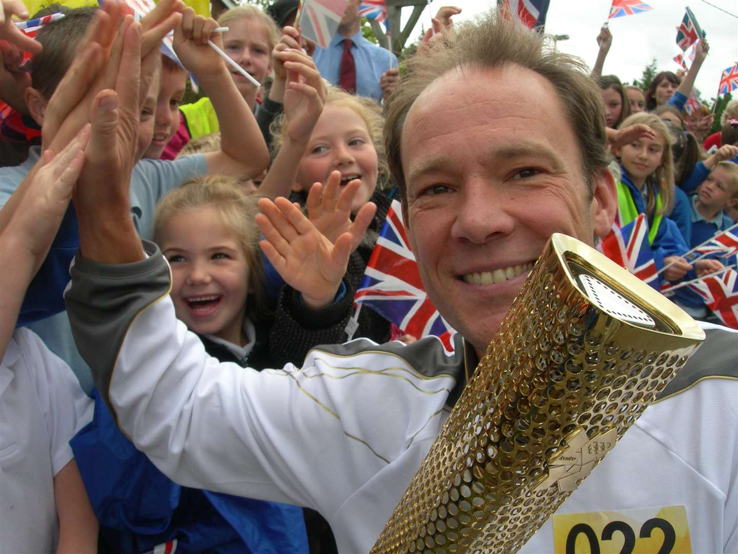 Ben Afforselles who carried the Olympic torch in his home village of Hamstreet