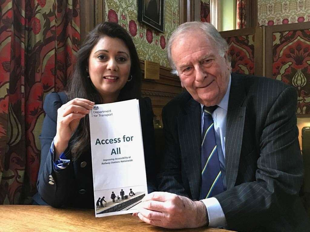 Rail Minister Nusrat Ghani with Sir Roger Gale MP. Picture: Roger Gale (8282740)