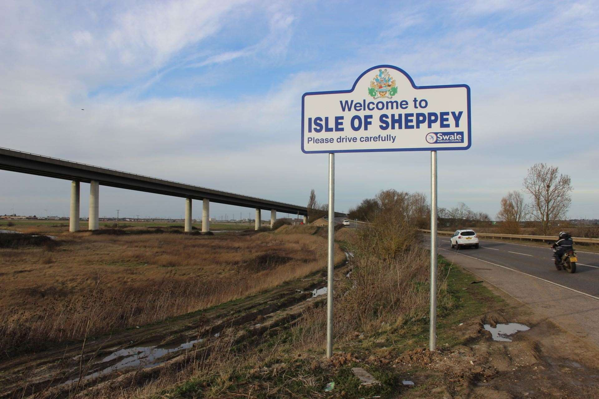 Welcome to the Isle of Sheppey sign(42027743)