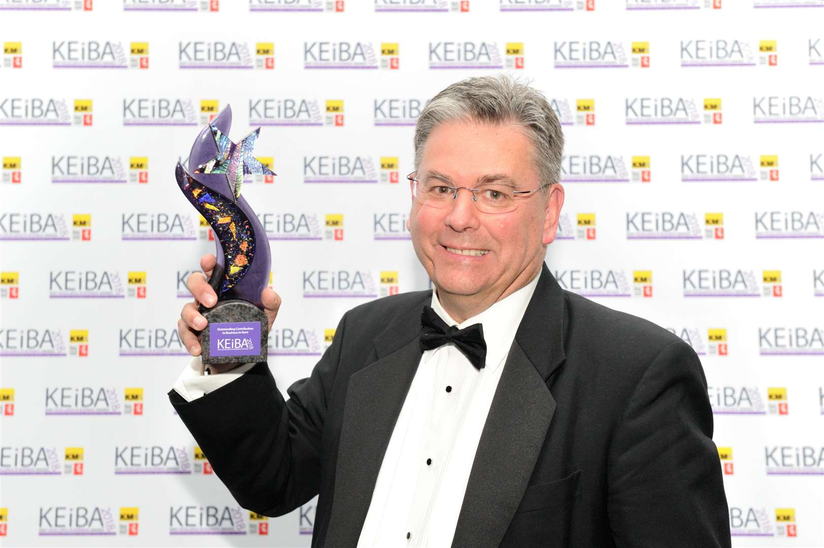 Clive Stevens picks up the KEiBA for Outstanding Contribution last year