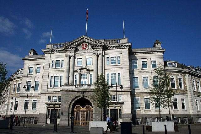County Hall, in Maidstone, KCC headquarters. Stock picture