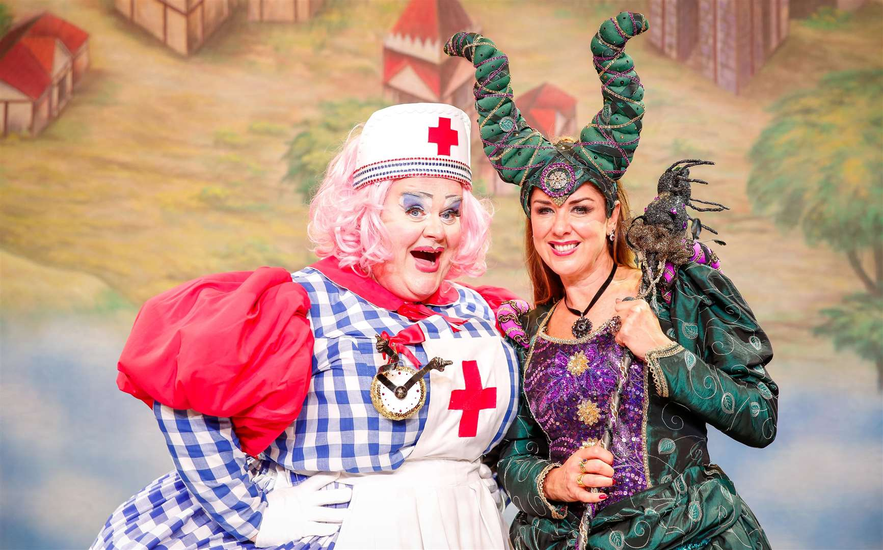 Claire with Quinn Patrick in panto