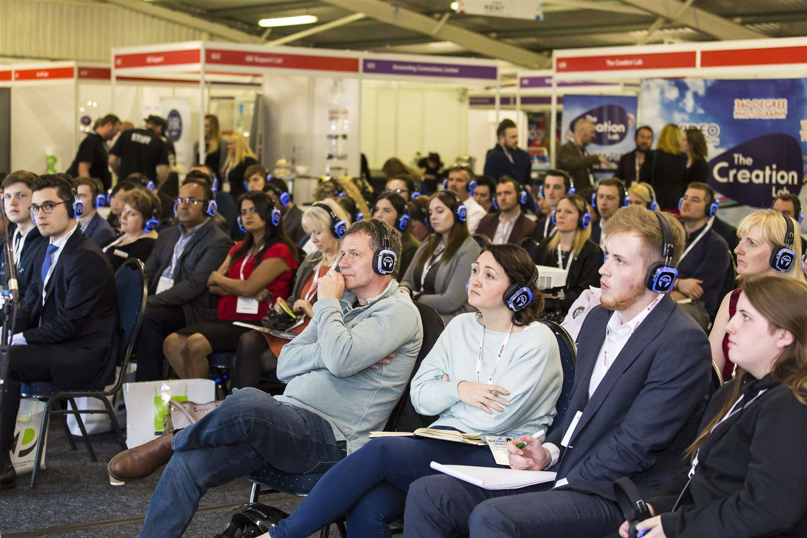 Audience listen keenly to a panel debate at a previous Business Vision event