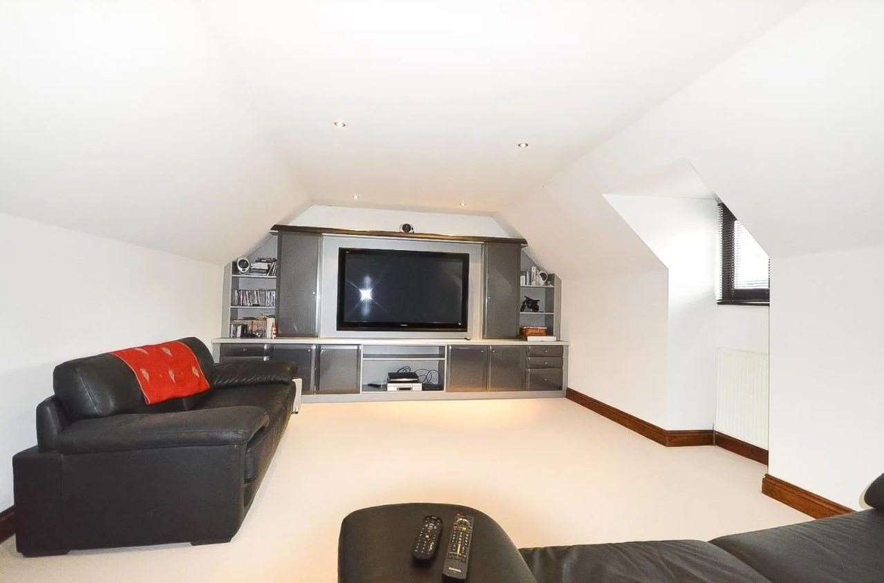 The large cinema room. Picture: Zoopla / Zest