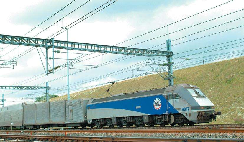A Eurotunnel train