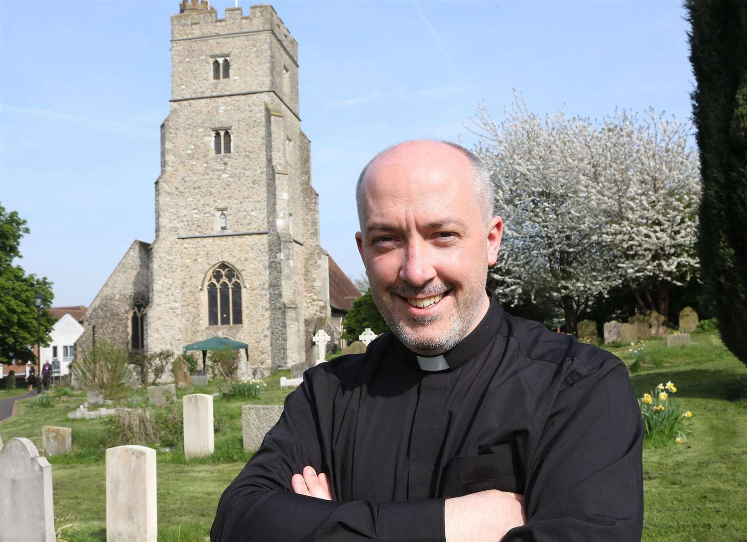 Rev Nathan Ward, the new vicar at St Margaret's Church in Rainham
