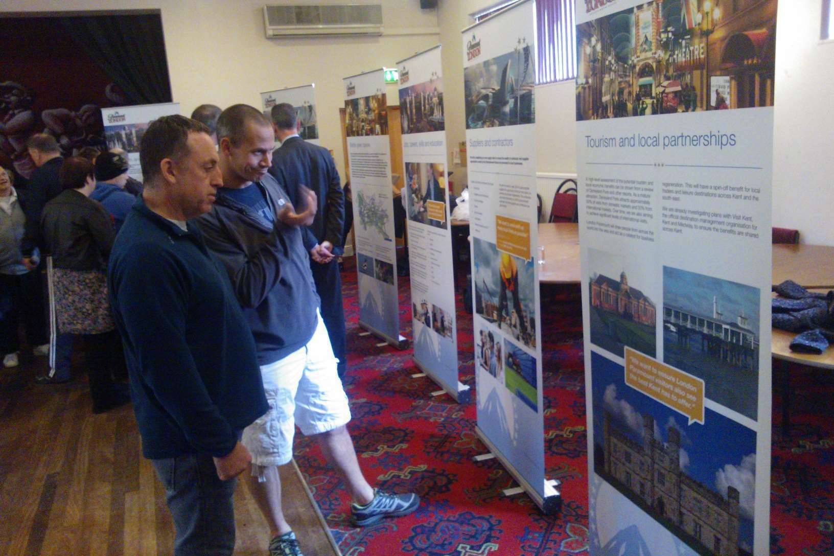 Residents checking out the details at the latest London Paramount exhibition