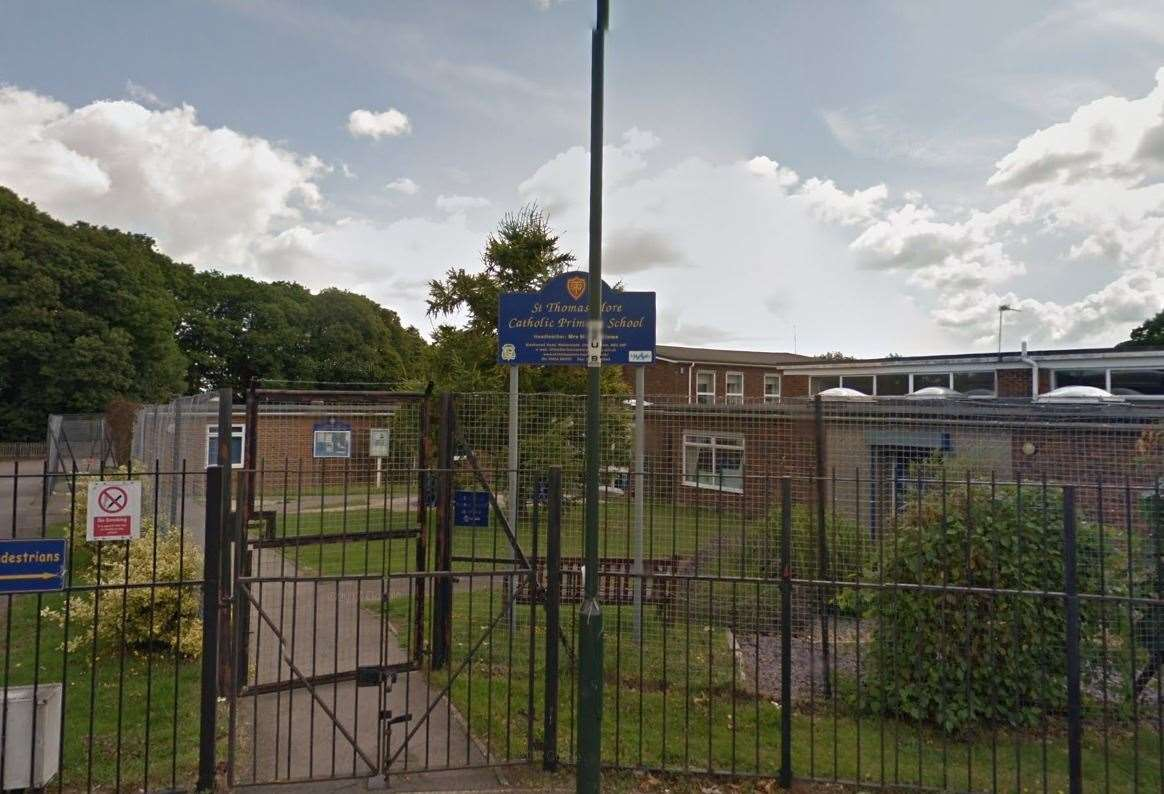 The incident occured at Sir Thomas Moore School in Walderslade (10456018)