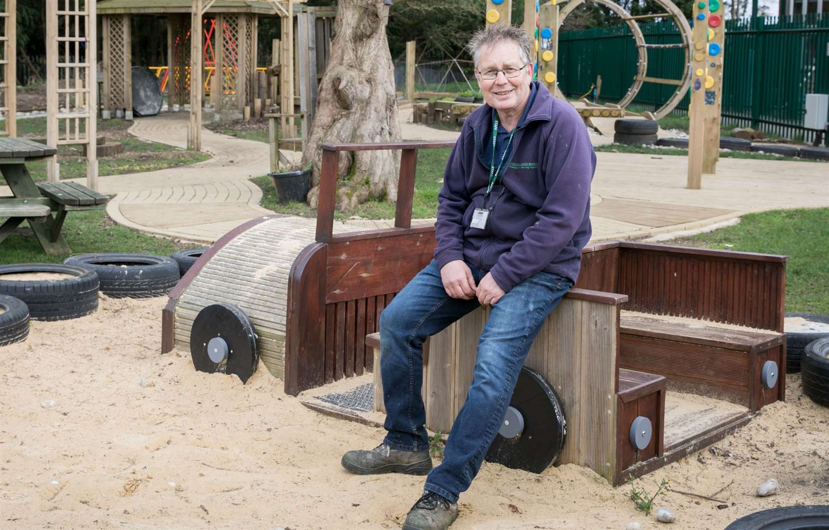 Paul Atkinson, head of horticulture, in the sensory garden, where children can play and explore Picture: Matthew Walker