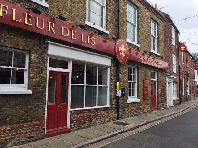 Looking spick and span, it appears the Fleur De Lis Hotel on Delf Street in Sandwich has received a recent paint job