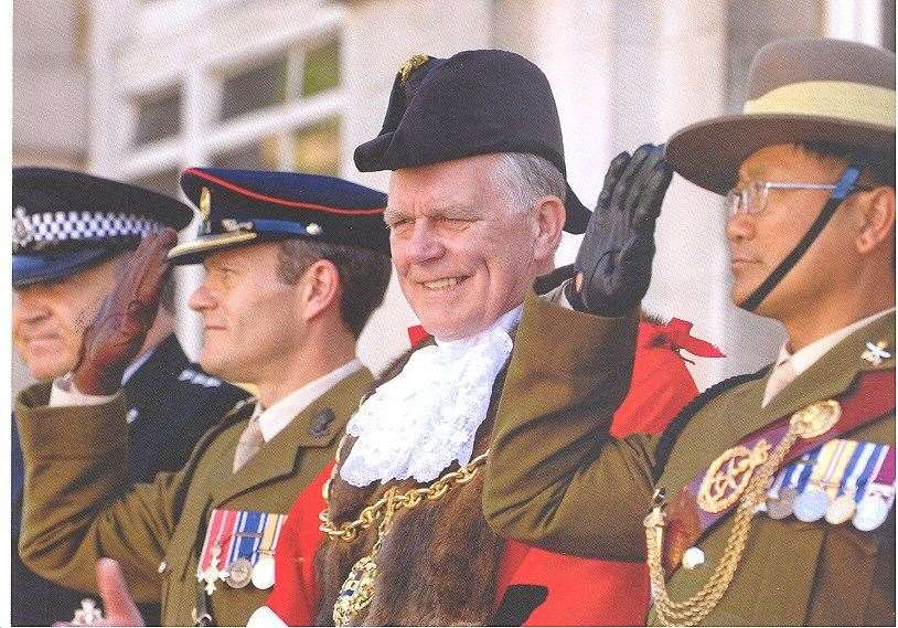 Cllr Hotson during his tenure as Mayor of Maidstone in 2010