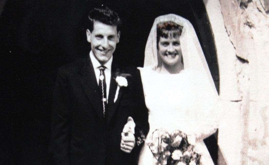Derek and Kath Friday at Newington Church on July 11, 1959