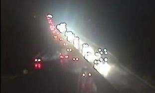 Police were called to a multi-vehicle crash on the M2 Picture: Highways England