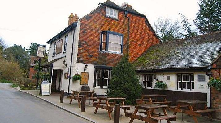 The Black Horse is close to the bottom of Detling Hill