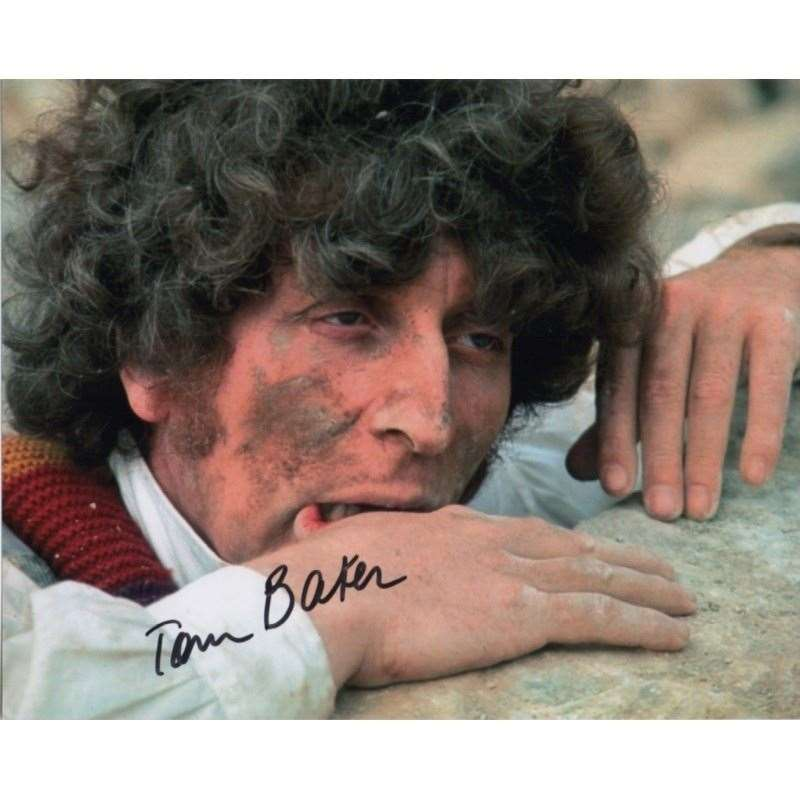 A signed photo of Doctor Who star Tom Baker