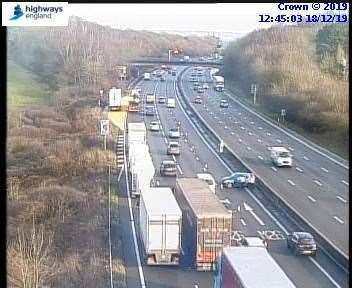 The crash on the M25
