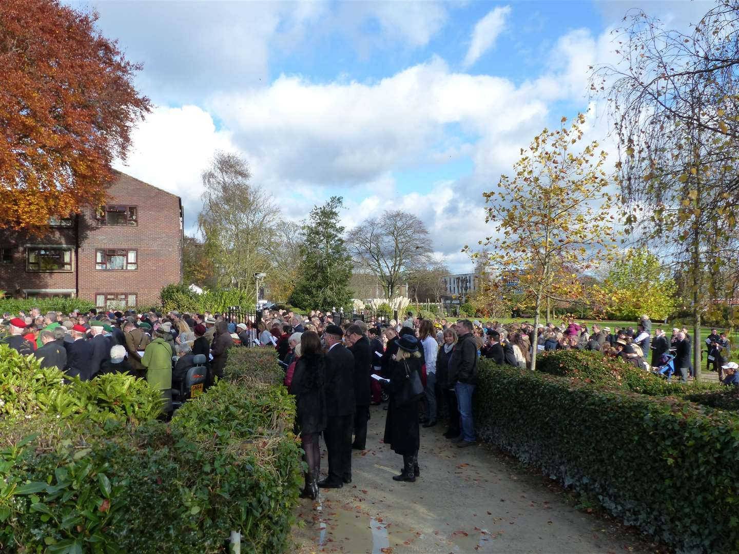 Andy Clark photographed overcrowding at the Ashford Remembrance Sunday service last year
