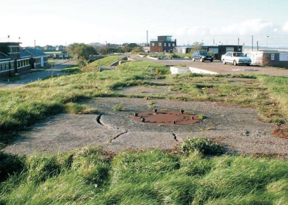 Remains of a 12-pounder fun emplacement at the former Barton's Point Battery in Sheerness. Picture: English Heritage