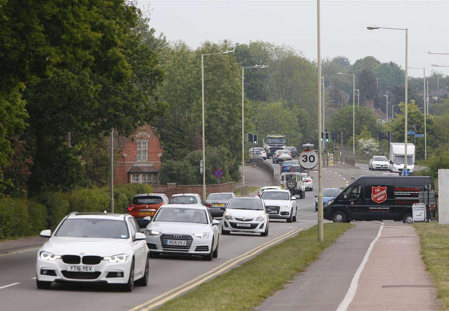 Chart Road is a notoriously busy stretch of the A28