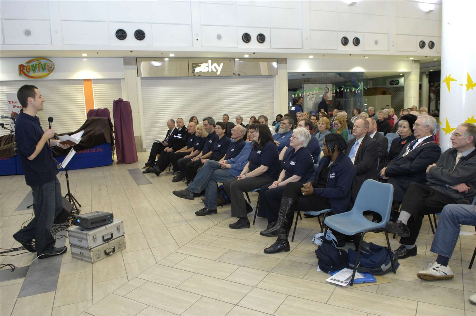 The launch of the Ashford Street Pastor scheme in 2010. Picture: Gary Browne