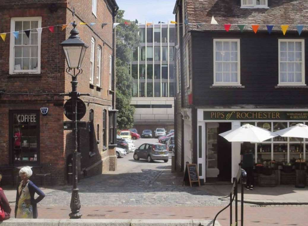 The view from Rochester High Street, if the plans are approved. Pic: MWC and MDS Architects