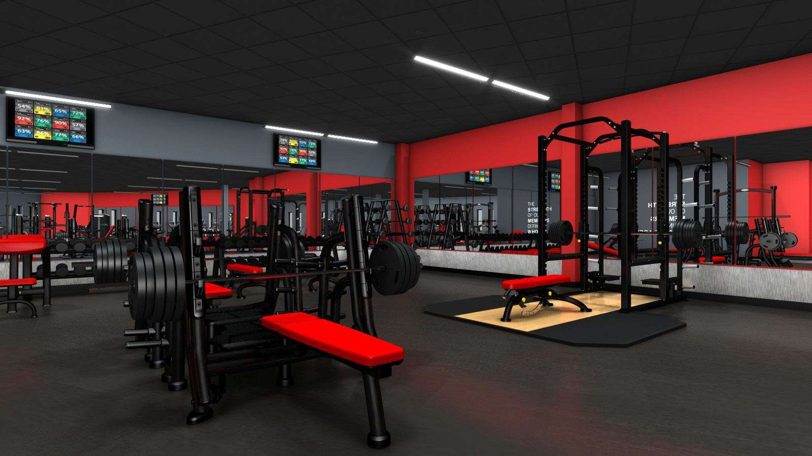 An artist impression of what the gym will look like