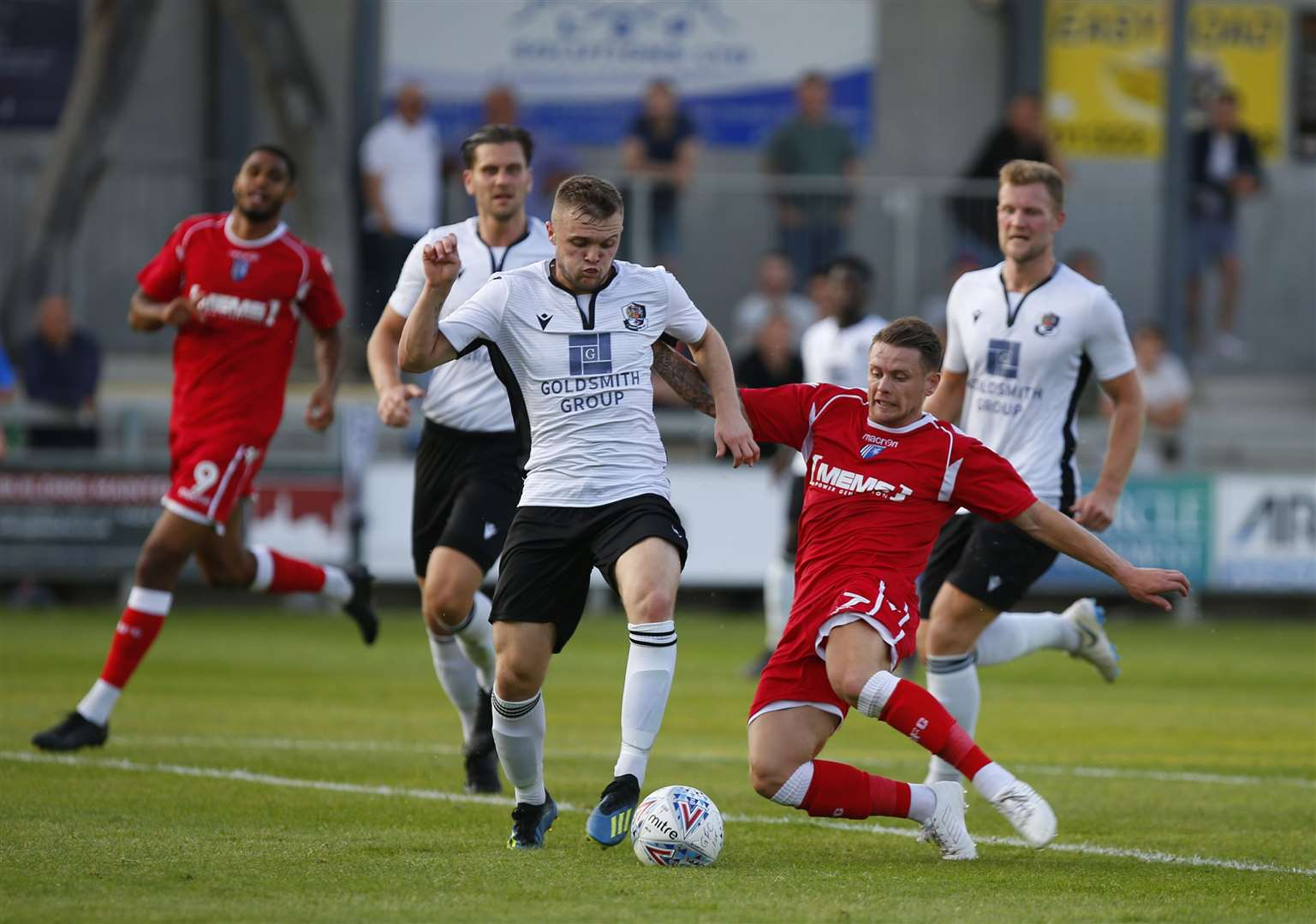 Action from Dartford's pre-season friendly against Gillingham Picture: Andy Jones