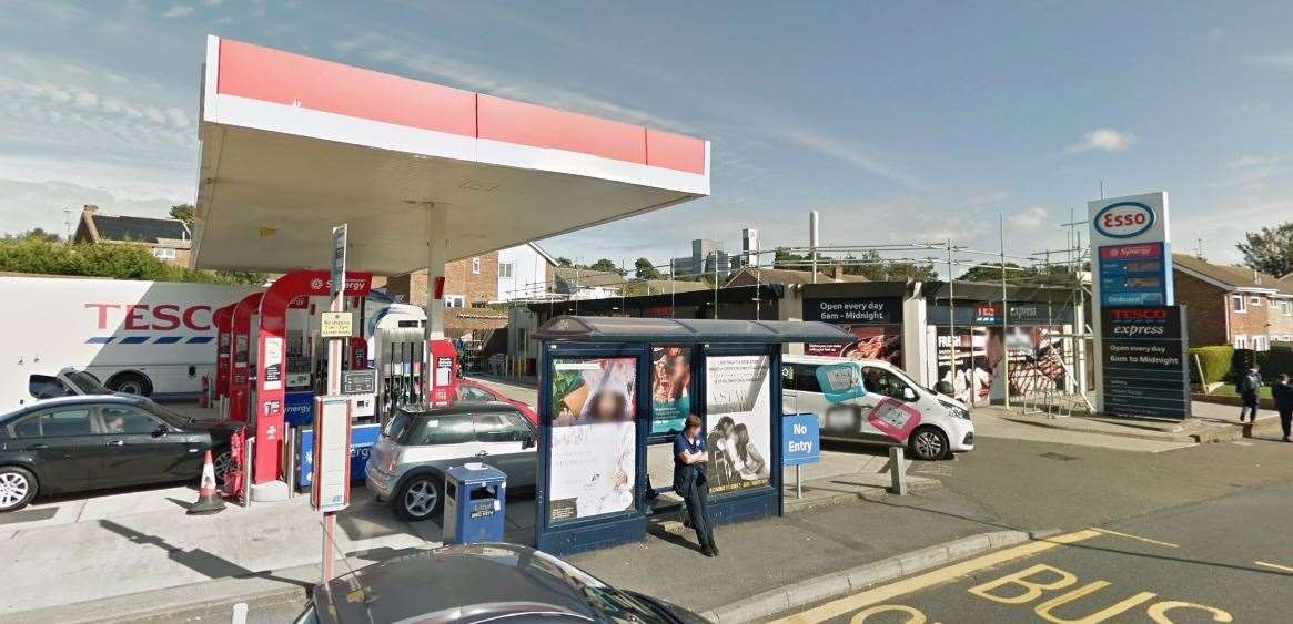 A man was attacked outside this petrol station. Picture: Google Street View