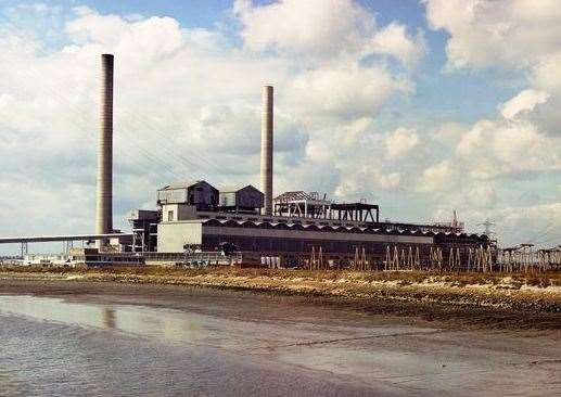 Littlebrook Power Station, in Dartford, before demolition began