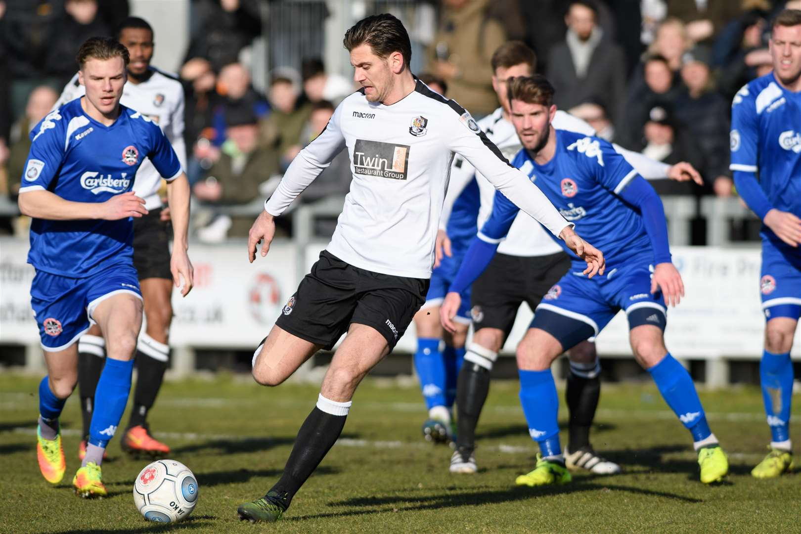 Tom Bonner in action for Dartford last season Picture: Andy Payton