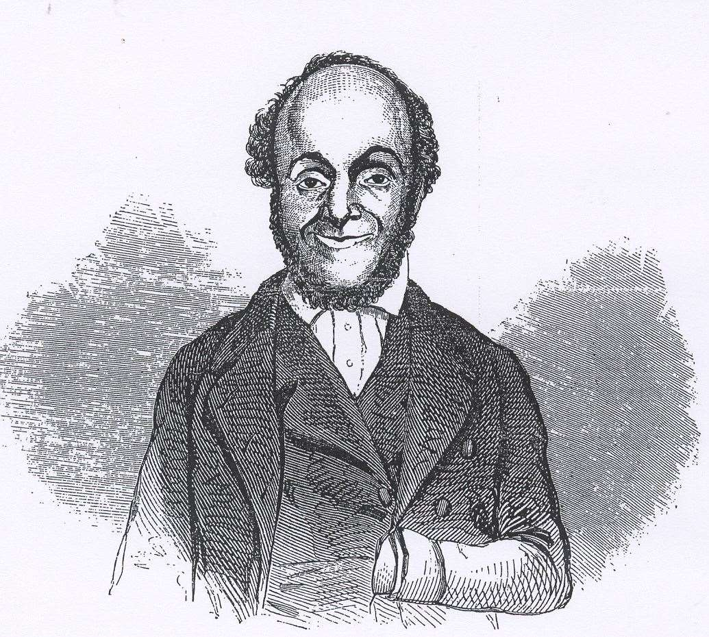 William Cuffay from a drawing made while he was in Newgate Prison. Photo: Medway Archives Stephen Dix