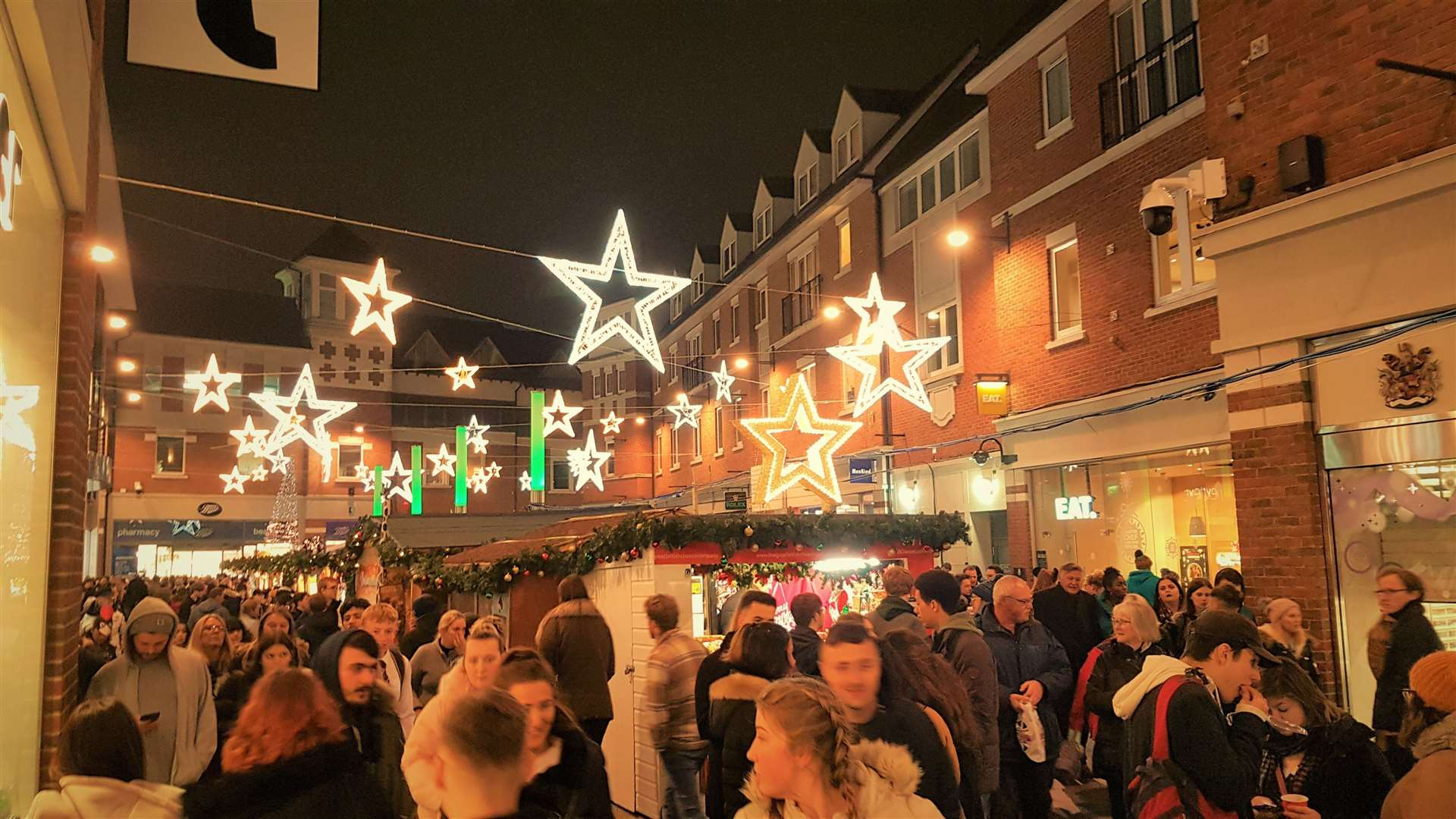 Whitefriars Christmas market in Canterbury last year