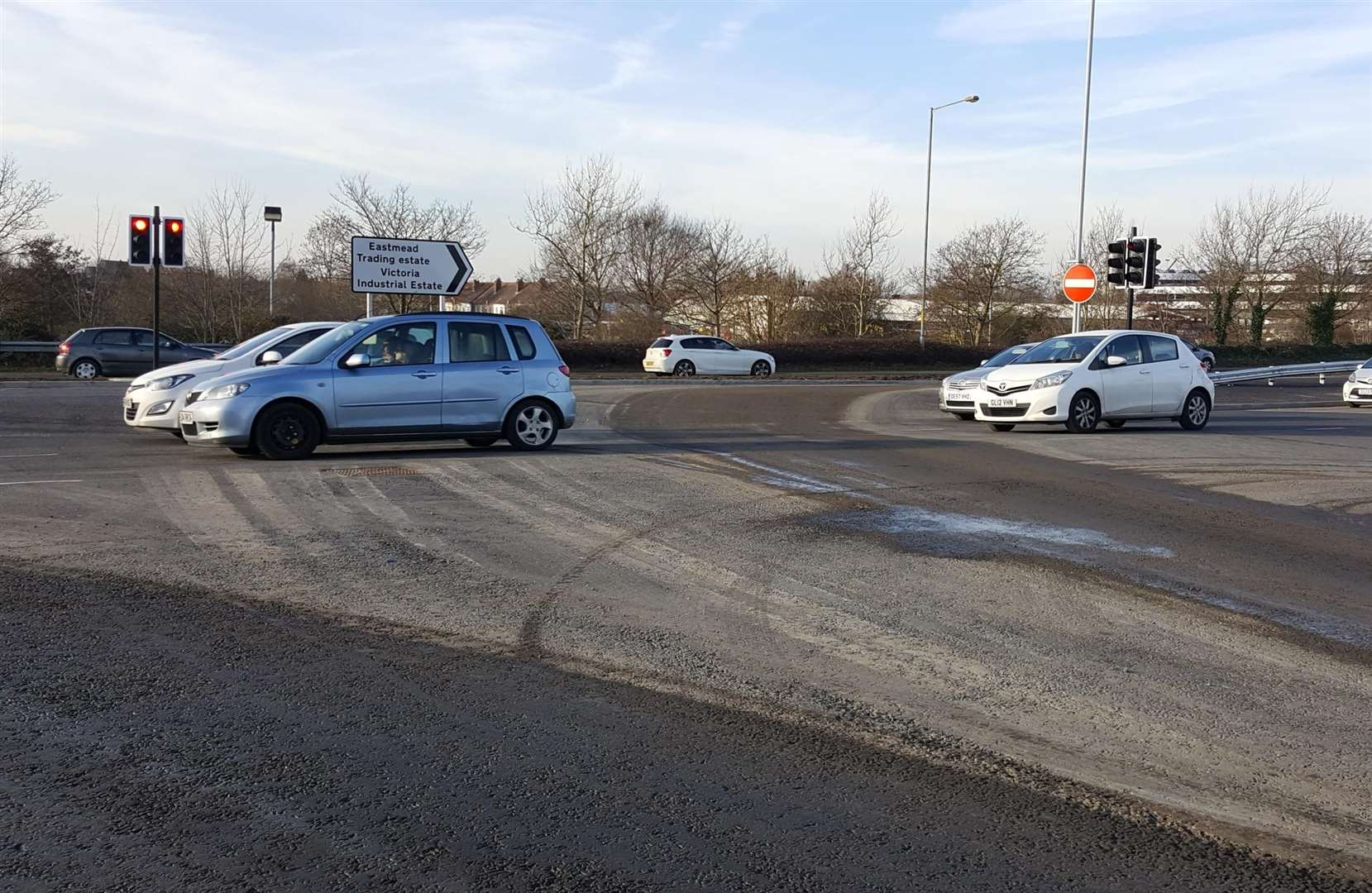 "The ""huge dip"" at the Newtown Road junction has been criticised"