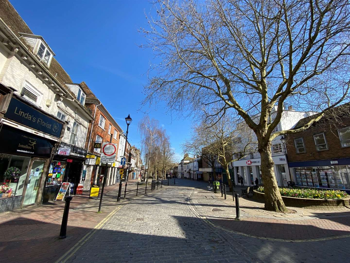 Town centres have been left deserted during the lockdown - and SMEs are struggling to survive as a consequence