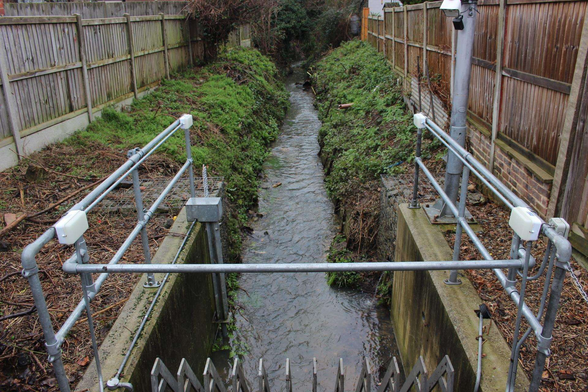 The stream next to Sean Maxwell's home in Sheerstone, Iwade