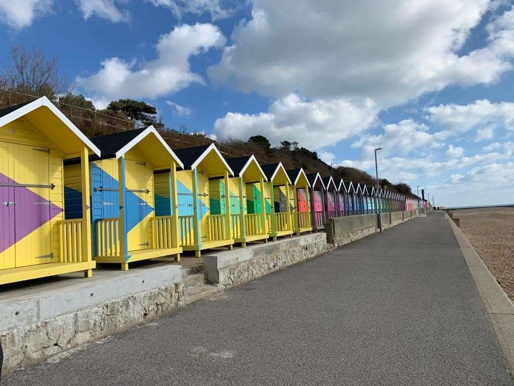 Folkestone's new beach huts