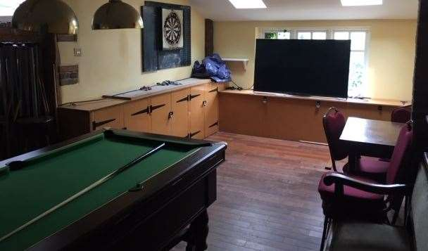 The games room is away from the main bar