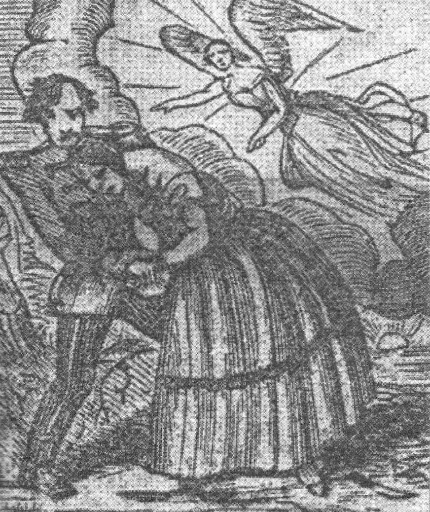 Dedea drew this picture of himself killing Caroline while languishing in his prison cell. Picture: From The Poisoners and Crimes of Passion by Ivan Sage