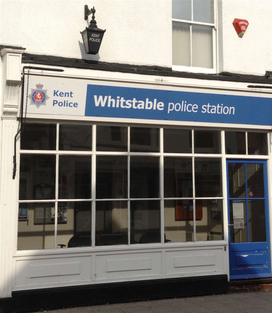 The Whitstable Police Station, photographed in 2012, close to the point at which High Street merges in Oxford Street