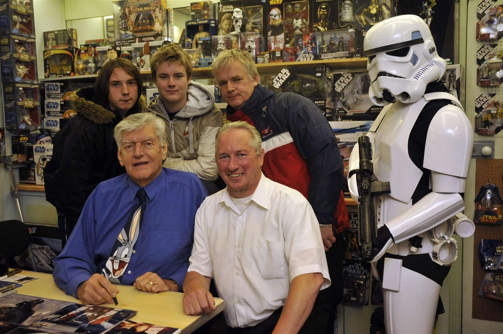 Meeting fans at the Time and Space shop, Broadstairs, in 2008.