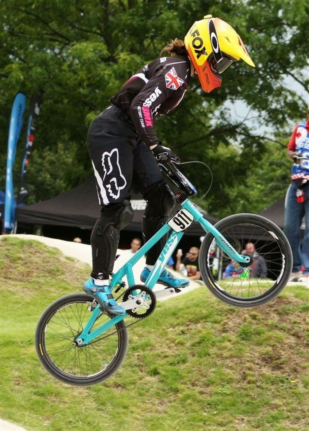 Bethany Shriever won gold at the Olympics.  Here it is in action at the Cyclopark, Gravesend, in June.  Photo: Cycloparc