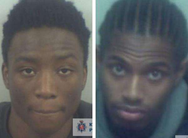 Christopher Bolokor, left, and Tasham Reid-Watson. Picture: Kent Police (5867449)