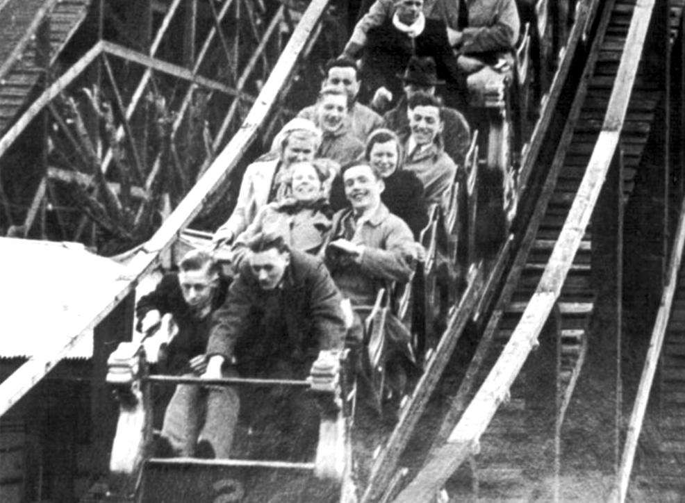 The rollercoaster in its heyday