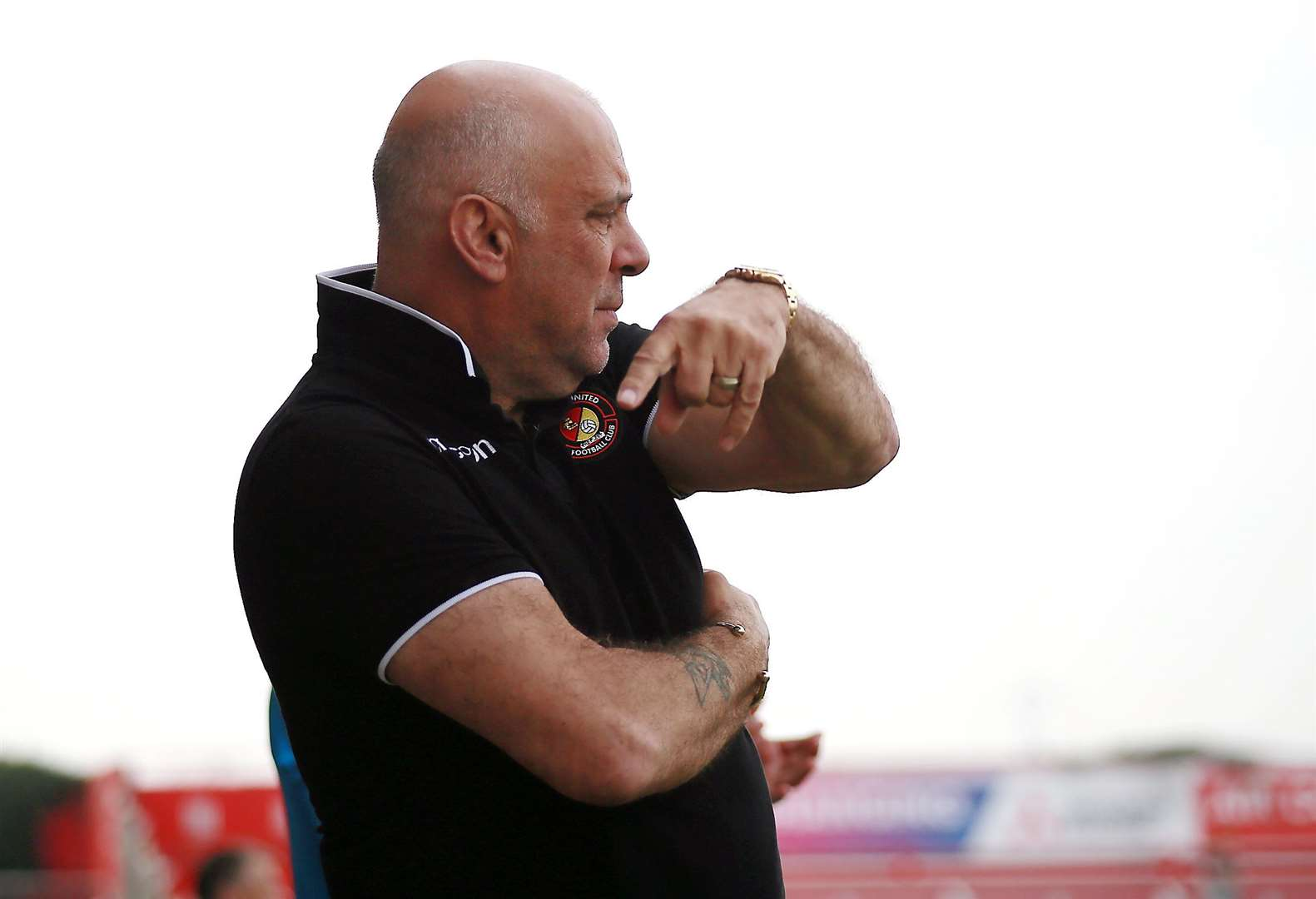 Ebbsfleet manager Garry Hill Picture: Phil Lee