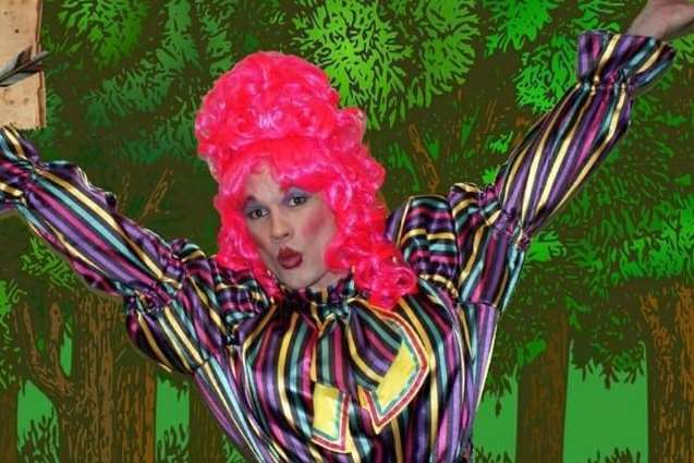 Adam Parks as the pantomime dame for the Robin Hood show, Picture Courtesy of Dover Operatic and Dramatic Society