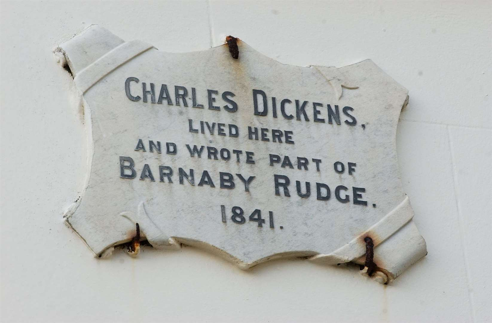 The author stayed in Archway House in Broadstairs and wrote part of Barnaby Rudge in 1841 - a book for which his pet raven was an inspiration