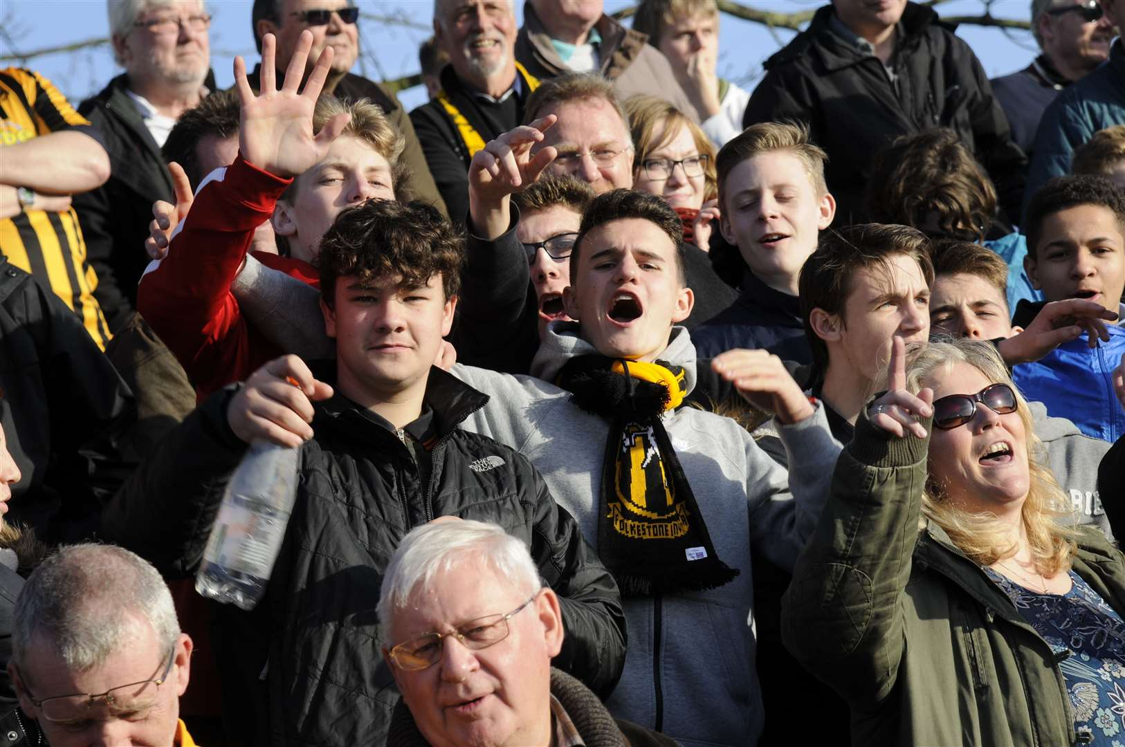 Celebrations from the Folkestone Invicta supporters Picture: Gary Browne