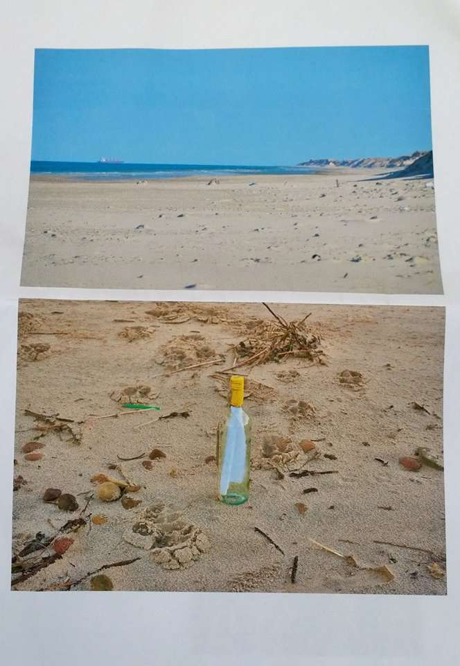 The beach in Denmark where the bottle was found