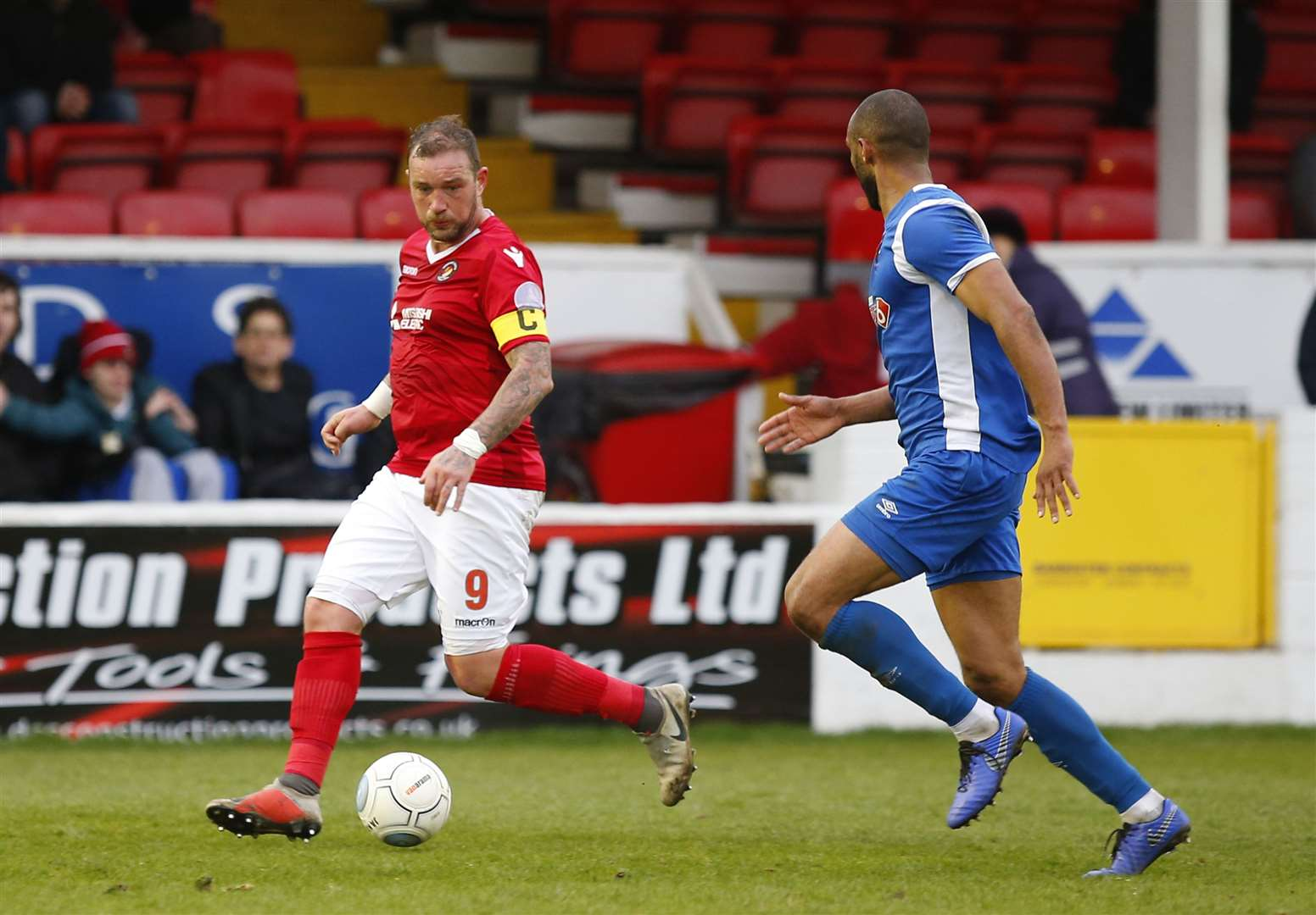 Danny Kedwell has been at Ebbsfleet for four-and-a-half years Picture: Andy Jones