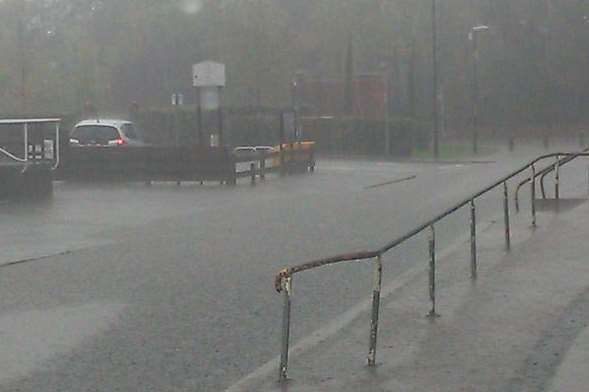 The heavy rain last night and this morning has flooded parts of Tonbridge